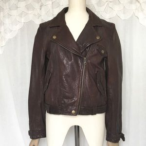 Madewell Wearmaster Leather Moto Jacket LIKE NEW
